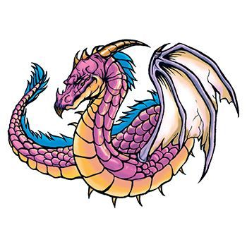 Traditional Purple Dragon Design Water Transfer Temporary Tattoo(fake Tattoo) Stickers NO.11996