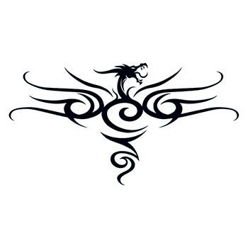 Tribal Black Dragon Back Design Water Transfer Temporary Tattoo(fake Tattoo) Stickers NO.12189