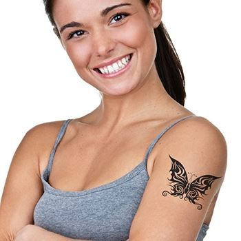 Tribal Bold Butterfly Design Water Transfer Temporary Tattoo(fake Tattoo) Stickers NO.12195