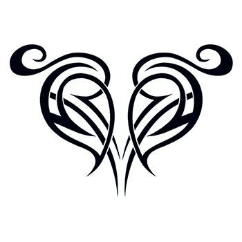 Tribal Broken Heart Design Water Transfer Temporary Tattoo(fake Tattoo) Stickers NO.12201
