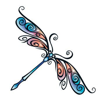 Tribal Dragonfly Design Water Transfer Temporary Tattoo(fake Tattoo) Stickers NO.13651