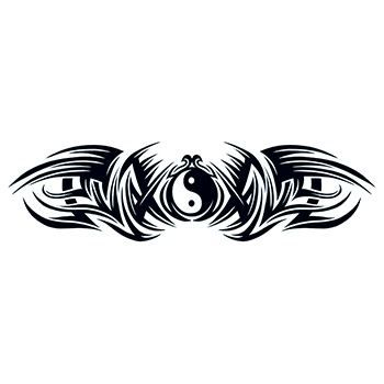 Tribal Duality Lower Back Design Water Transfer Temporary Tattoo(fake Tattoo) Stickers NO.11844