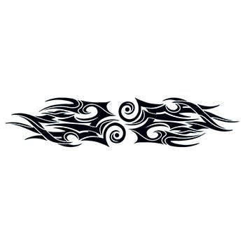 Tribal Flames Lower Back Design Water Transfer Temporary Tattoo(fake Tattoo) Stickers NO.12489