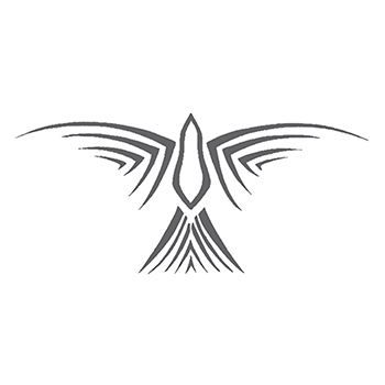 Tribal Gray Bird Design Design Water Transfer Temporary Tattoo(fake Tattoo) Stickers NO.12492