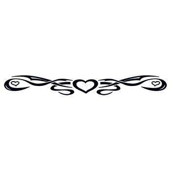 Tribal Heart Band Design Water Transfer Temporary Tattoo(fake Tattoo) Stickers NO.12267