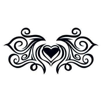 Tribal Heartstrings Lower Back Design Water Transfer Temporary Tattoo(fake Tattoo) Stickers NO.12487