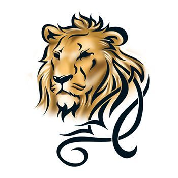 Tribal Lion Design Water Transfer Temporary Tattoo(fake Tattoo) Stickers NO.13654