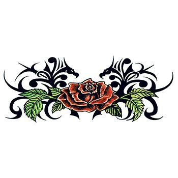 Tribal Rose Back Design Water Transfer Temporary Tattoo(fake Tattoo) Stickers NO.12476