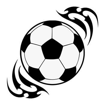 Tribal Soccer Ball Design Water Transfer Temporary Tattoo(fake Tattoo) Stickers NO.14964