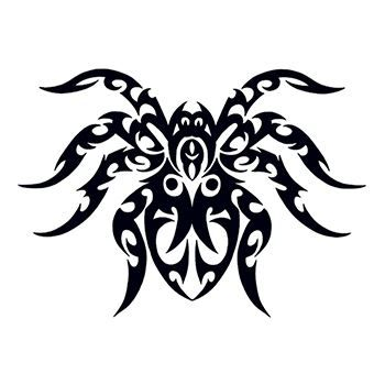 Tribal Spider Design Water Transfer Temporary Tattoo(fake Tattoo) Stickers NO.13196