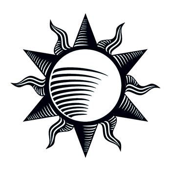Tribal Sun Design Water Transfer Temporary Tattoo(fake Tattoo) Stickers NO.12144