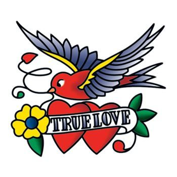 True Love Design Water Transfer Temporary Tattoo(fake Tattoo) Stickers NO.13463