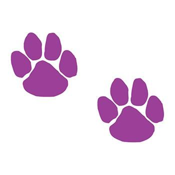 Two Purple Paws Design Water Transfer Temporary Tattoo(fake Tattoo) Stickers NO.13083