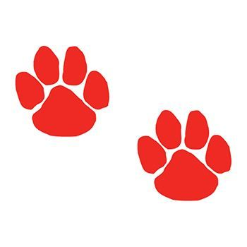 Two Red Paws Design Water Transfer Temporary Tattoo(fake Tattoo) Stickers NO.13085
