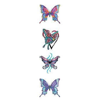 Various Butterflies Design Water Transfer Temporary Tattoo(fake Tattoo) Stickers NO.13789