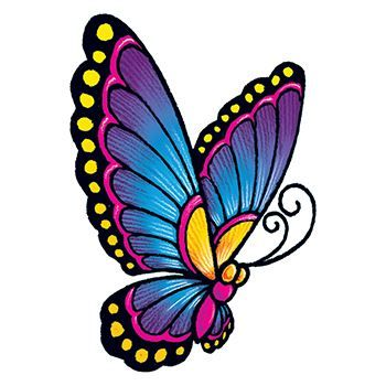 Vintage Butterfly Design Water Transfer Temporary Tattoo(fake Tattoo) Stickers NO.13792