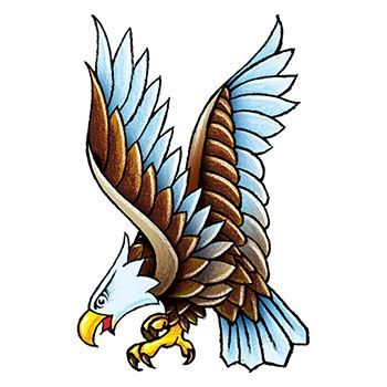 Vintage Eagle Design Water Transfer Temporary Tattoo(fake Tattoo) Stickers NO.12847