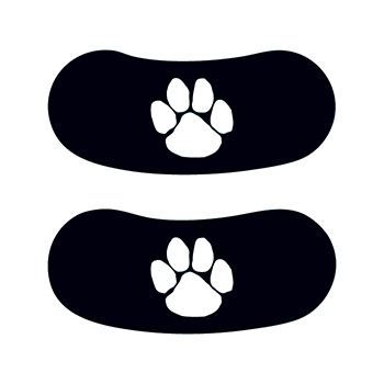 White Paw Eye Black Design Water Transfer Temporary Tattoo(fake Tattoo) Stickers NO.15078