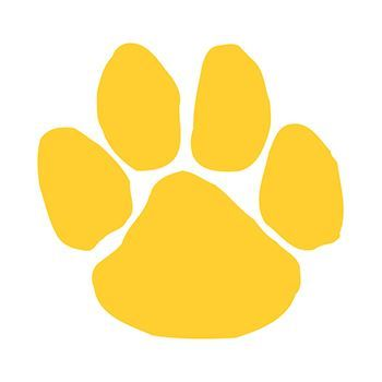 Yellow Mascot Paw Print Design Water Transfer Temporary Tattoo(fake Tattoo) Stickers NO.15090
