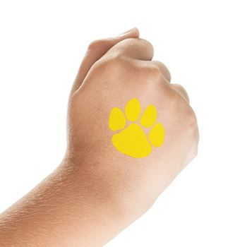 1afeb6d5eb81 Yellow Paw Print Design Water Transfer Temporary Tattoo(fake Tattoo)  Stickers NO.13017