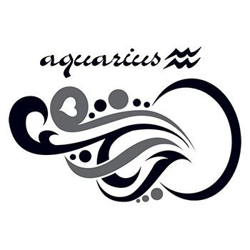 Zodiac: Aquarius Design Design Water Transfer Temporary Tattoo(fake Tattoo) Stickers NO.12223