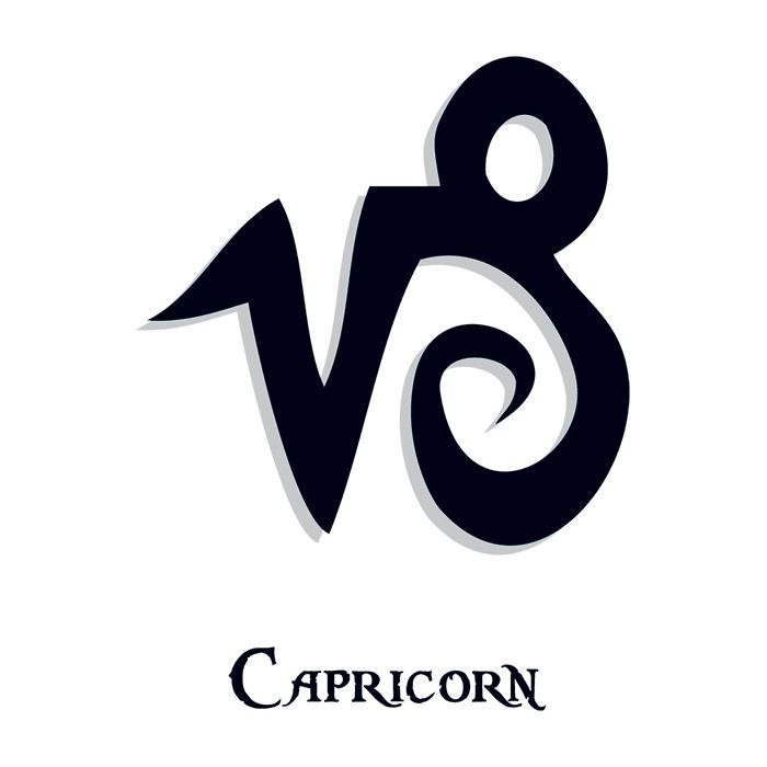 Zodiac: Capricorn Design Water Transfer Temporary Tattoo(fake Tattoo) Stickers NO.12238