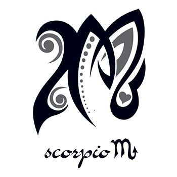 Zodiac: Scorpio Design Design Water Transfer Temporary Tattoo(fake Tattoo) Stickers NO.12244