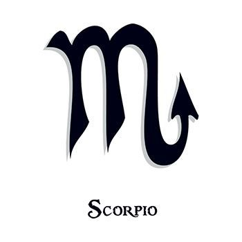 Zodiac: Scorpio Design Water Transfer Temporary Tattoo(fake Tattoo) Stickers NO.12231