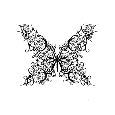 Fabulous Butterfly Ankle Design Fake Temporary Water Transfer Tattoo Stickers NO.10660