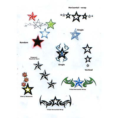 Shooting Star Ankle Design Fake Temporary Water Transfer Tattoo Stickers NO.10664