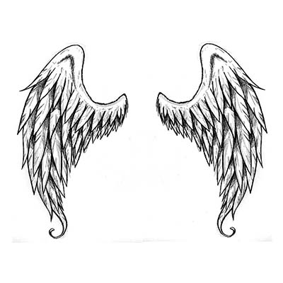 Small Angel Wing Ankle Design Fake Temporary Water Transfer Tattoo Stickers NO.10665