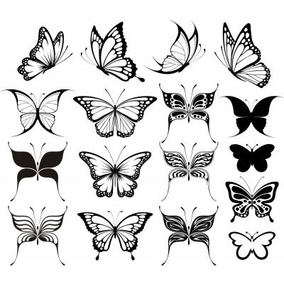 Tiny Butterfly Ankle designs Fake Temporary Water Transfer Tattoo Stickers NO.10666