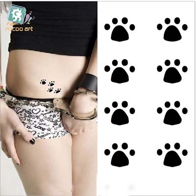 Female clean simple cute little paws disposable waterproof Design Water Transfer Temporary Tattoo(fake Tattoo) Stickers NO.10681