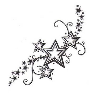Cute and Small Feminine Star Design Water Transfer Temporary Tattoo(fake Tattoo) Stickers NO.10700