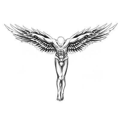Feminine Back guardian angel wings transfer spray large sexy body makeup high quality Design Water Transfer Temporary Tattoo(fake Tattoo) Stickers NO.10753