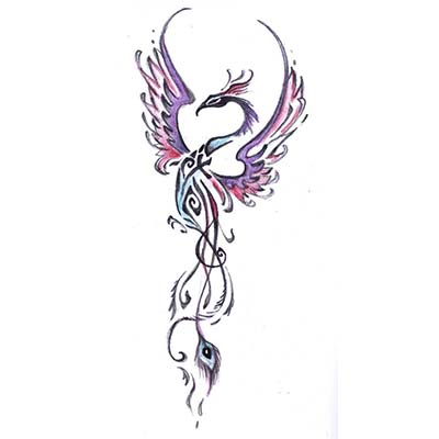 Feminine Design Water Transfer Temporary Tattoo(fake Tattoo) Stickers NO.10693