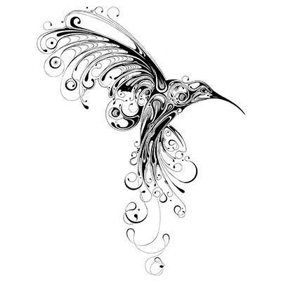 Feminine Design Water Transfer Temporary Tattoo(fake Tattoo) Stickers NO.10757