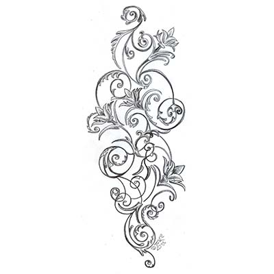 Feminine Gear Designs Water Transfer Temporary Tattoo(fake Tattoo) Stickers NO.10711