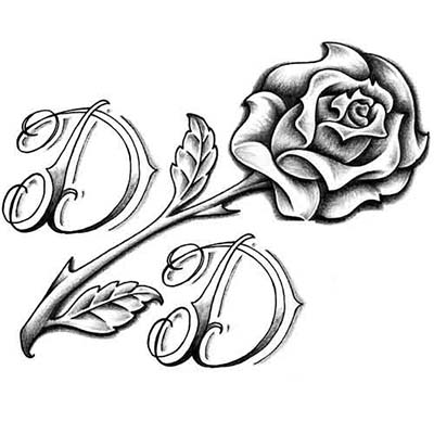 Feminine Rose Designs On Leg Water Transfer Temporary Tattoo(fake Tattoo) Stickers NO.10714