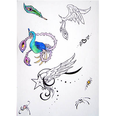 Feminine designs for girls Water Transfer Temporary Tattoo(fake Tattoo) Stickers NO.10722