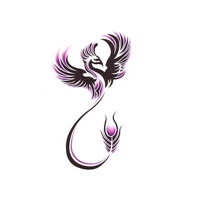 Feminine phoenix designs Water Transfer Temporary Tattoo(fake Tattoo) Stickers NO.10712
