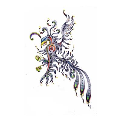 New colorful tribal phoenix Design Water Transfer Temporary Tattoo(fake Tattoo) Stickers NO.10738