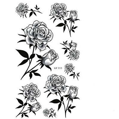 Rose Body opisthenar elbow foot Rose Flower waterproof Design Water Transfer Temporary Tattoo(fake Tattoo) Stickers NO.10747