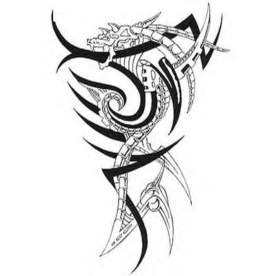 Tribal Dragon Feminine On Back Design Water Transfer Temporary Tattoo(fake Tattoo) Stickers NO.10755