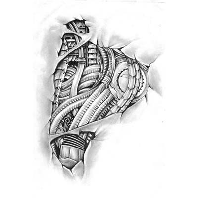 Biomechanical Foot Design Water Transfer Temporary Tattoo(fake Tattoo) Stickers NO.10761