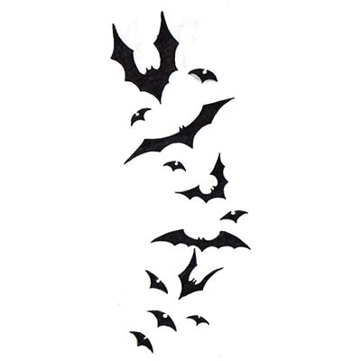 Foot Bat Design Water Transfer Temporary Tattoo(fake Tattoo) Stickers NO.10773