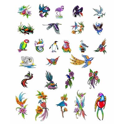 Foot Of Birds Design Water Transfer Temporary Tattoo(fake Tattoo) Stickers NO.10776
