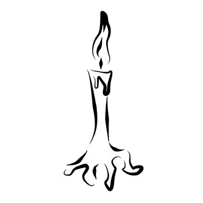 Lighting Candle Foot Design Water Transfer Temporary Tattoo(fake Tattoo) Stickers NO.10779