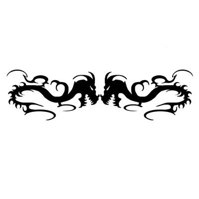 Dragon lowerback design Water Transfer Temporary Tattoo(fake Tattoo) Stickers NO.10792
