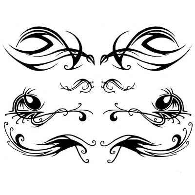Lower Back Design Water Transfer Temporary Tattoo(fake Tattoo) Stickers NO.10798